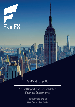 Fairfx Group Plc annual report 2016