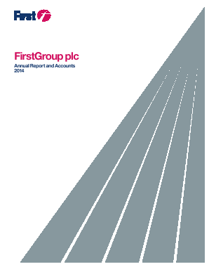 Firstgroup annual report 2014