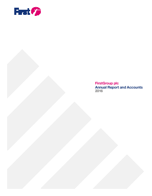 Firstgroup annual report 2016