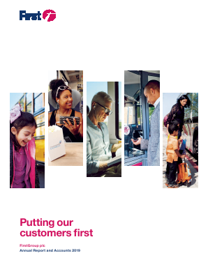 Firstgroup annual report 2019