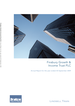Finsbury Growth & Income Trust annual report 2009