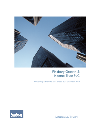 Finsbury Growth & Income Trust annual report 2010