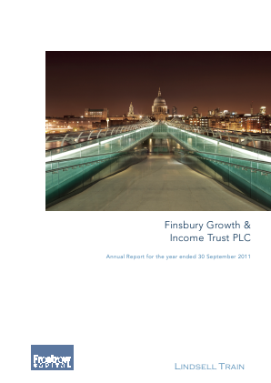 Finsbury Growth & Income Trust annual report 2011