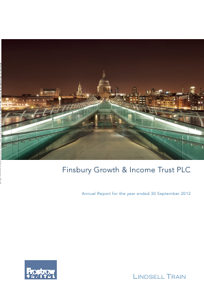 Finsbury Growth & Income Trust annual report 2012