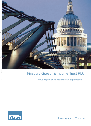 Finsbury Growth & Income Trust annual report 2013