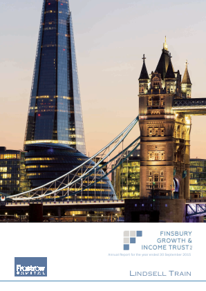Finsbury Growth & Income Trust annual report 2015