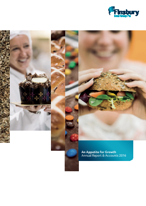 Finsbury Food Group annual report 2016