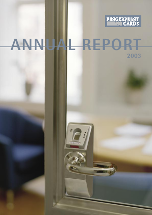 Fingerprint Cards annual report 2003