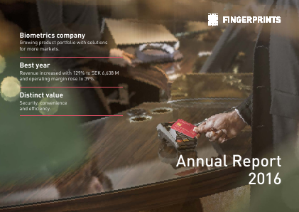 Fingerprint Cards annual report 2016