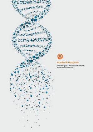 Frontier Ip Group Plc annual report 2014