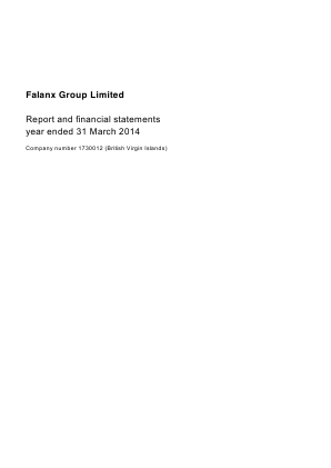 Falanx Group annual report 2014