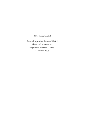 Flybe Group Plc annual report 2009