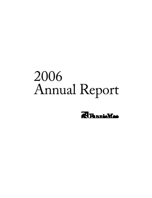 Fannie Mae annual report 2006