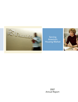 Fannie Mae annual report 2007