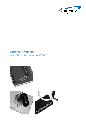 4imprint Group Plc annual report 2008
