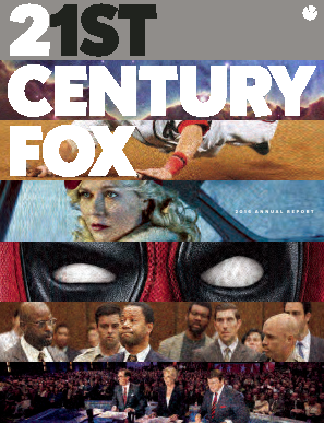 Twenty-First Century Fox, Inc. annual report 2016