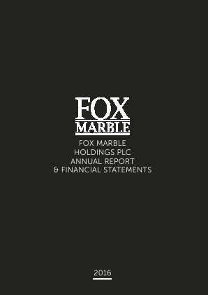 Fox Marble Holdings Plc annual report 2016