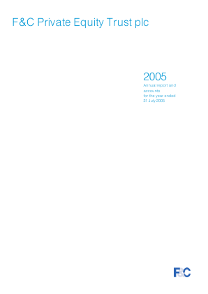 F&C Private Equity Trust annual report 2005