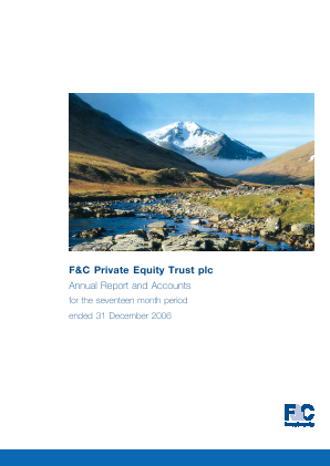 F&C Private Equity Trust annual report 2006
