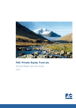 F&C Private Equity Trust annual report 2007