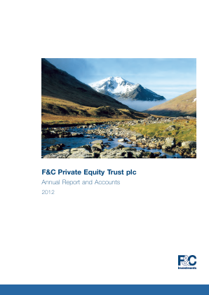 F&C Private Equity Trust annual report 2012