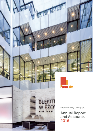 First Property Group annual report 2016