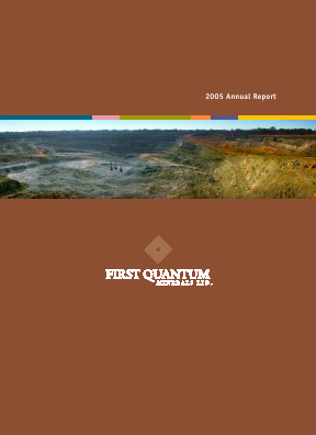 First Quantum Minerals annual report 2005