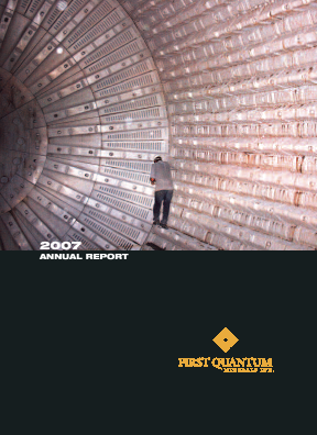 First Quantum Minerals annual report 2007