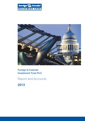 Foreign & Col Investment Trust annual report 2013