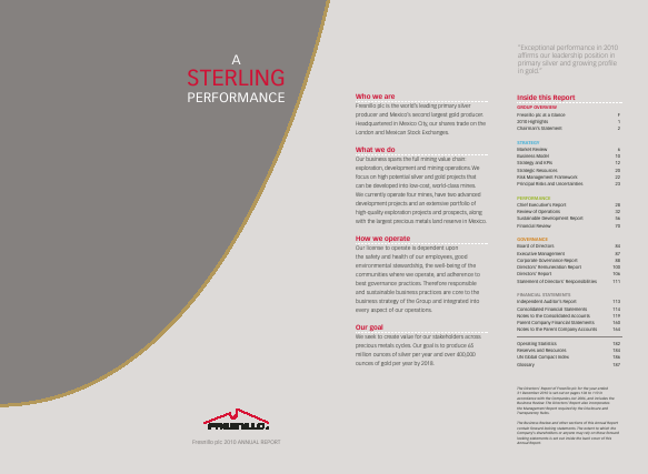 Fresnillo Plc annual report 2010