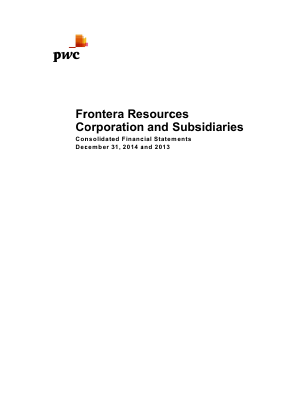 Frontera Resources Corp annual report 2014