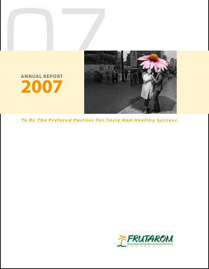 Frutarom Industries annual report 2007