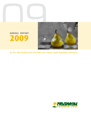 Frutarom Industries annual report 2009