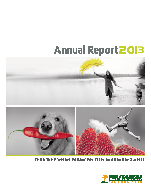Frutarom Industries annual report 2013