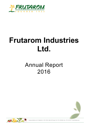 Frutarom Industries annual report 2016