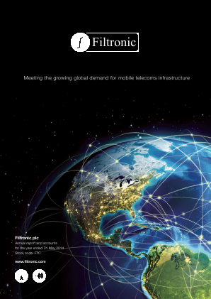 Filtronic annual report 2014