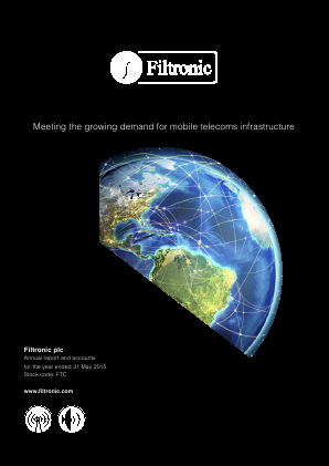 Filtronic annual report 2015