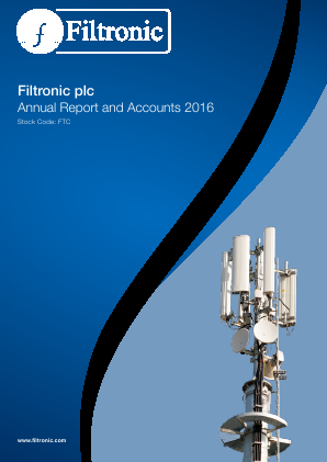 Filtronic annual report 2016
