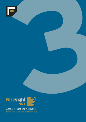 Foresight 3 VCT annual report 2010