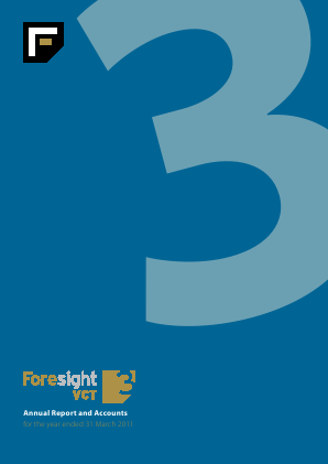 Foresight 3 VCT annual report 2011