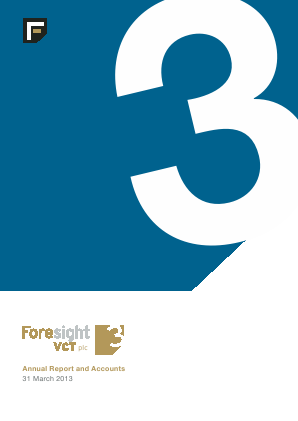 Foresight 3 VCT annual report 2013