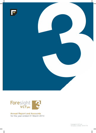 Foresight 3 VCT annual report 2014