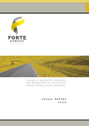 BOS Global (formally Forte Energy Nl) annual report 2009
