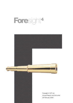 Foresight 4 VCT annual report 2006