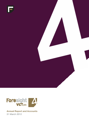 Foresight 4 VCT annual report 2012