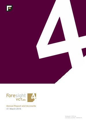Foresight 4 VCT annual report 2016