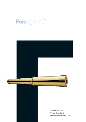 Foresight VCT Plc annual report 2006