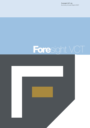Foresight VCT Plc annual report 2007