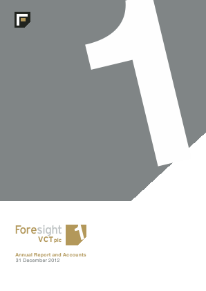 Foresight VCT Plc annual report 2012