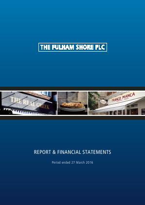 Fulham Shore Plc(The) annual report 2016